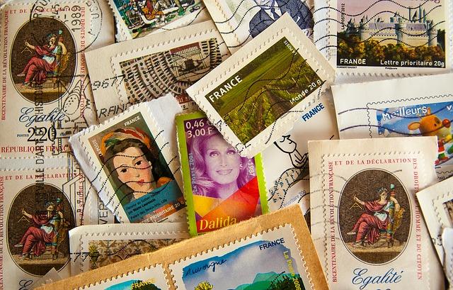 francouzské známky