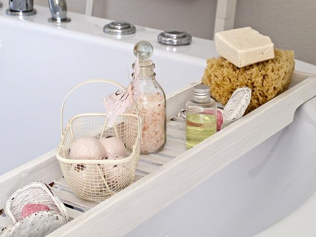 přírodní kosmetika na vaně