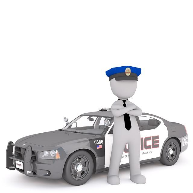 policista u vozu