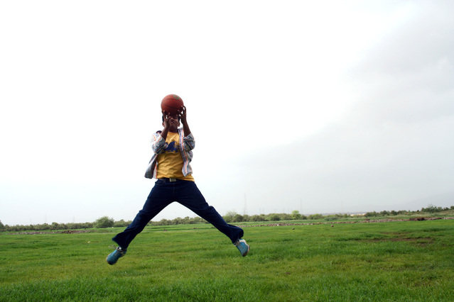 skákání s míčem