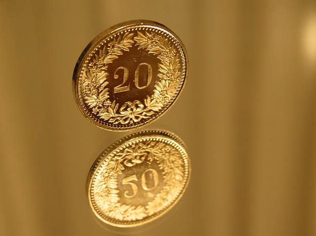 vznášející se mince