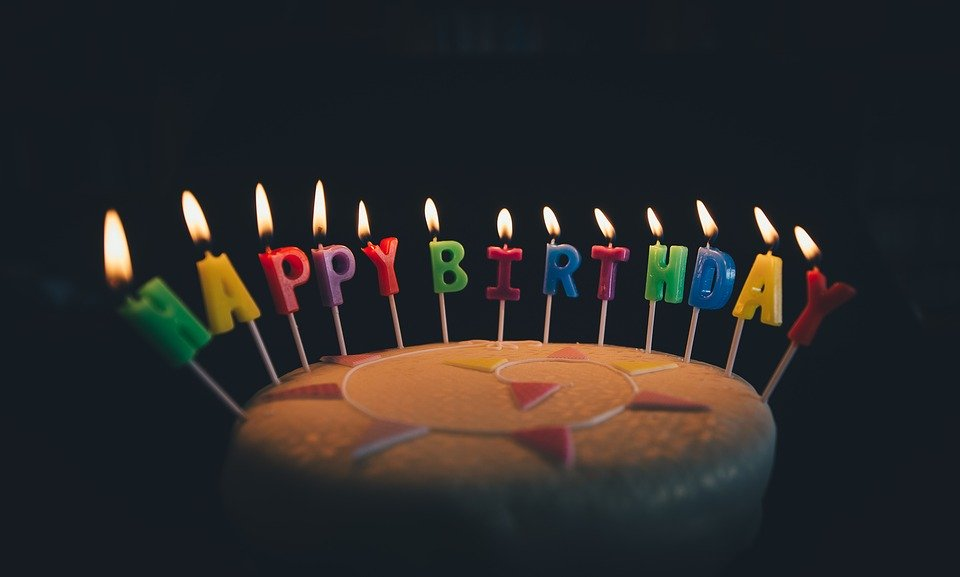 svíčky happy birthday